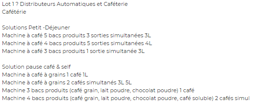 exemple appel d'offres marchés public alimentaire lot boulangerie